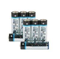 Alkaline-Batterien  Typ: AA, AAA, Block