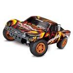 TRAXXAS Slash 4x4 orange/rot RTR +12V-Lader+Akku
