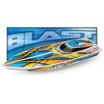 TRAXXAS BLAST Boot  weiß/orange +12V-Lader+Akku