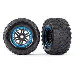 Reifen auf Felge montiert Felge schwarz/blau Maxx All-Terrai