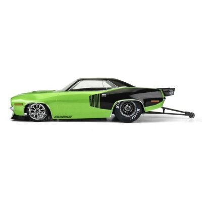 1972 Plymouth Barracuda Karo klar für Slash 2WD Drag Car + AE DR10