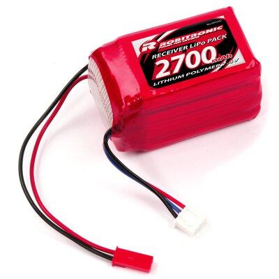 LiPo Akku 2700mAh 2S 2/3A Hump Size Empfängerpack (EH)