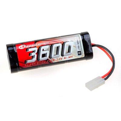 NiMH Akku 3600mAh 7,2V Stick Pack Tamiya Stecker