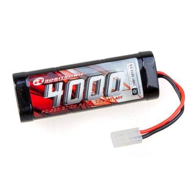 Robitronic NiMH Akku 4000mAh 7,2V Stick Pack Tamiya Stecker