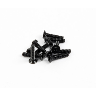 M2.6x12mm Flat Head (Black) (10pcs)
