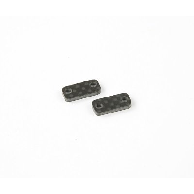 2mm Servo Saver Ackermann Platten Karbon (2 Stk.)