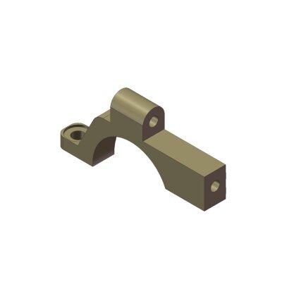 Hinterer oberer Getriebekasten Aluminium rechts