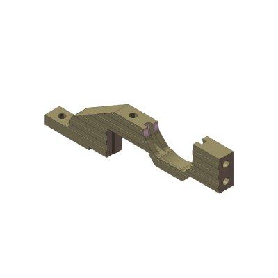 Hinterer unterer Getriebekasten Aluminium links