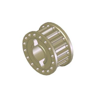 Aluminium Riemenrad 16T