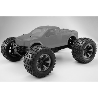 Hyper Monster Truck Brushless 1/8 80% ARR Roller (klare Karo