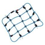 Gepäcknetz mit Haken Blau (150mm x 120mm)