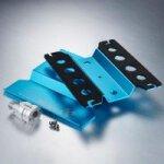 Auto Montagestand hoch 1/10 drehbar blau eloxiert