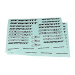 Decal sheet Serpent medium black-white (2)