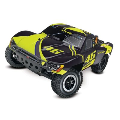 TRAXXAS Slash VR46-Edition RTR +12V-Lader+Akku 1/10 2WD Short Course Racing Truck Brushed
